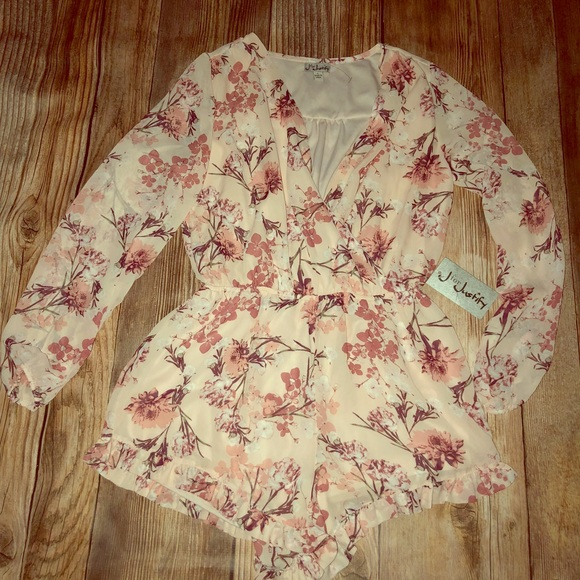 4712f802937c J for justify pink floral shorts romper